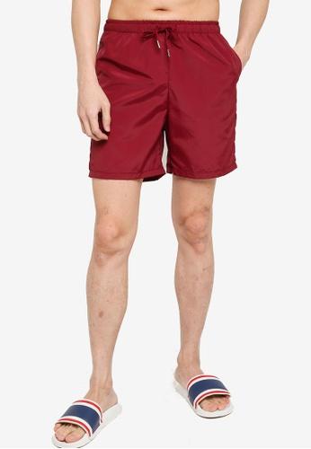 ZALORA BASICS red Long Board Shorts 9864FAA2A90528GS_1