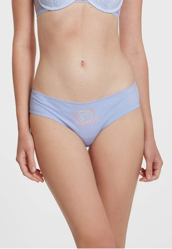 6IXTY8IGHT blue Lydia PMP, Smiley Face Hipster Panty PT10756 5C42DUS824CF73GS_1