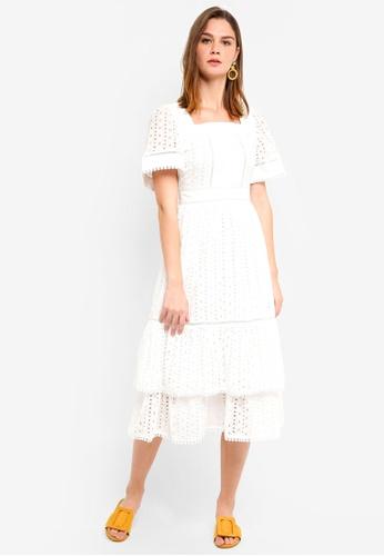 Haute Kelly white Hae-won Embroidery Dress AC150AA513E524GS_1