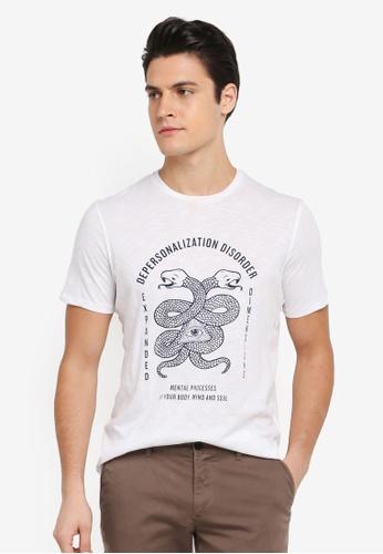 Sisley 白色 智慧之眼與蛇圖騰T恤 2FD15AA0D23C05GS_1