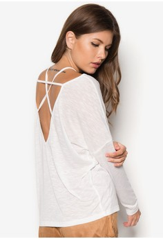 Back Strap Detail Long Sleeve Top