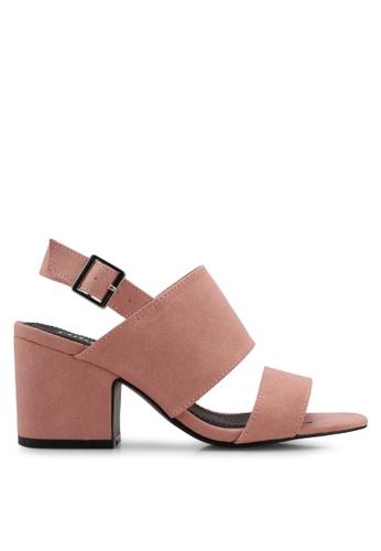 Rubi pink Foxtrot Chunky Heels 1109DSH5C53307GS_1