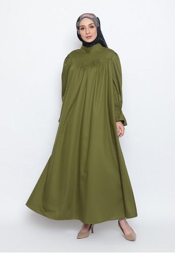 BellyBee green Shafa Dress 9C731AAEF4CE78GS_1
