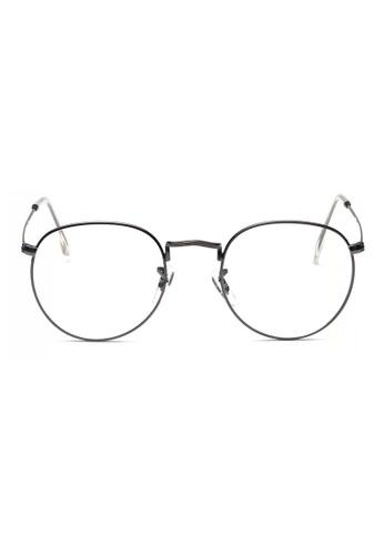 Kyfer's Eyewear & Essentials grey Semi Round Metal Eyewear (Metallic Grey) KY376AC44RBFSG_1