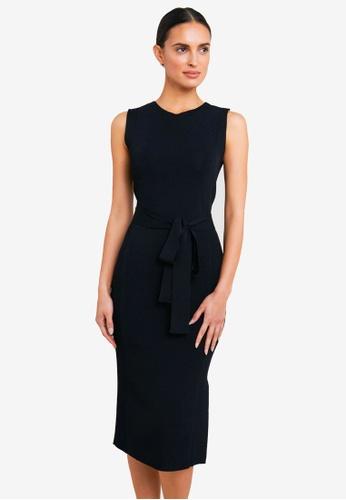 FORCAST black Jimena Tie Knit Dress C0974AAEACC941GS_1