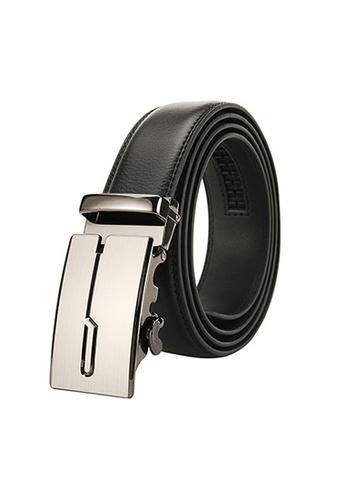 Twenty Eight Shoes black VANSA Fashion Leather Automatic Buckle Belt  VAM-Bt001 13720AC124F04DGS_1