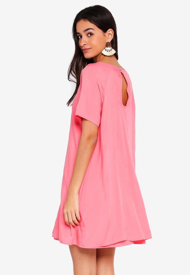 Sleeve ONLY Short Sunkist Dress Coral Peep Lisa 51pIxw1