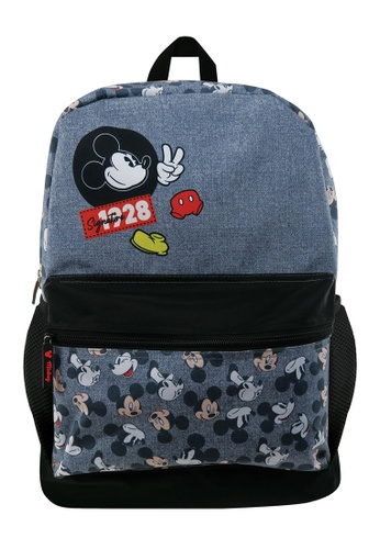 Disney Mickey black Disney Mickey Mouse Signature 1928 Teen Backpack B5457KCD27C2A1GS_1