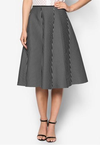 細條紋A 字及膝短裙esprit 衣服, 服飾, 長褲及內搭褲