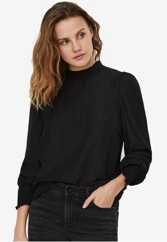 Vero Moda black Celeste Long Sleeve Top 5CF82AA7166E1CGS_1