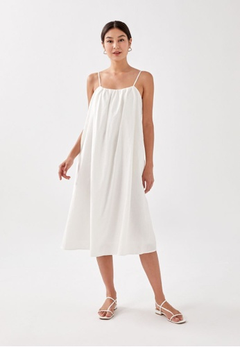 Love, Bonito white Leone Tie Back Textured Midaxi Dress 2251EAA197F3FBGS_1