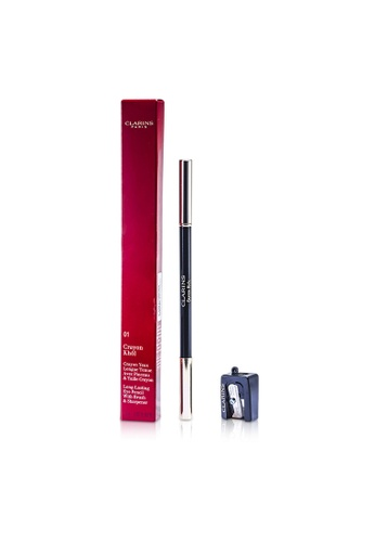 Clarins CLARINS - Long Lasting Eye Pencil with Brush - # 01 Carbon Black (With Sharpener) 1.05g/0.037oz 717ABBE54FB114GS_1