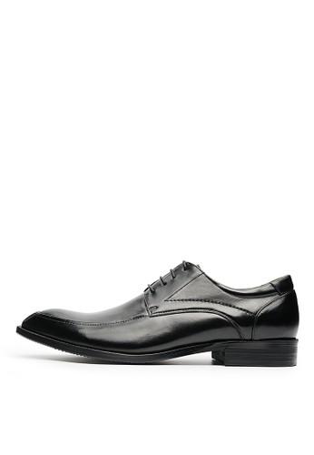 紳士魅力。頭層牛皮德比esprit 童裝鞋-04626-黑色, 鞋, 皮鞋