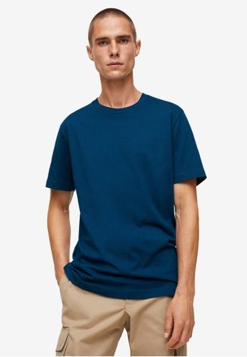 MANGO Man blue Sustainable Cotton Basic T-Shirt 90581AAB309C3BGS_1