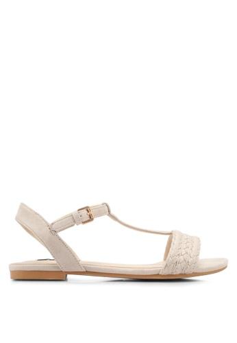 ZALORA white Braided Flat Sandals 8CBEFSH0F05DA1GS_1