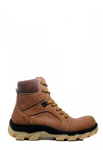 Cut Engineer brown Cut Engineer Safety Boots Apple High Leather Brown 60514SHF2ADFF9GS_1
