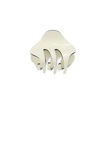Glamorousky silver Simple and Cute Beige Geometric Small Hair Claw 0994FAC1A6269DGS_1