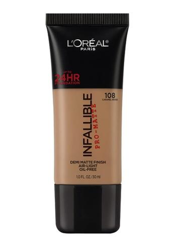 L'Oréal Paris beige L'Oreal Paris Infallible Pro-Matte Liquid Foundation - 108 Caramel Beige 6F5C3BE83DB05BGS_1