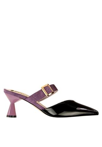 Twenty Eight Shoes 黑色 型格高跟拖鞋 VL9062 AFDEDSH25467B8GS_1