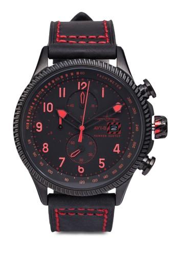 Hawker Hunter zalora開箱皮革腕錶, 錶類, 錶類