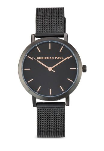 Resprit手錶專櫃aw 35mm 網眼錶帶圓框手錶, 錶類, 飾品配件