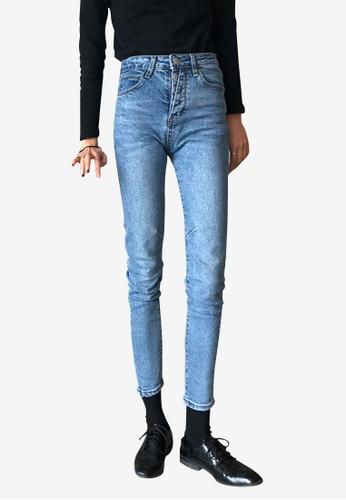 Lara blue Women's High Waist Jeans 897C4AAEDB3D0EGS_1