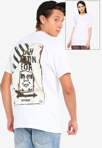 OBEY white Crosswalk Sign T-Shirt 23DA0AADF94BB1GS_1