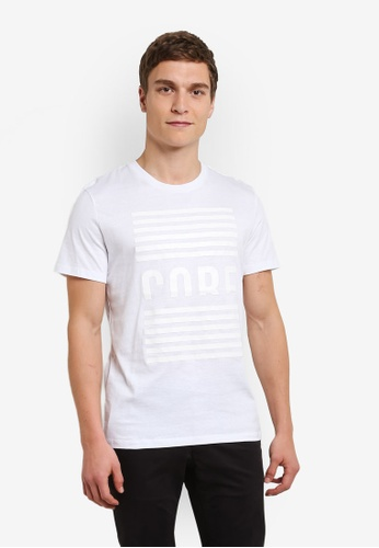 Jack & Jones white Jcobulletin Tee JA987AA0S4K0MY_1