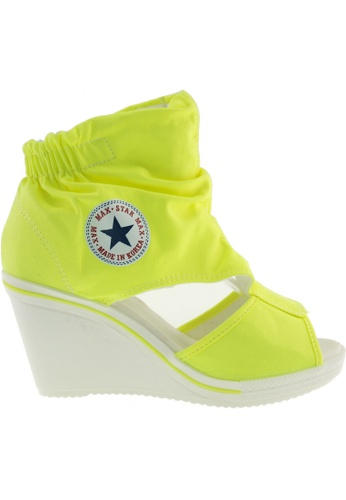 Maxstar green Maxstar Women's 775 Open Toe Elastic Ankle Canvas Wedge Heel Sandals US Women Size MA164SH92QRRSG_1