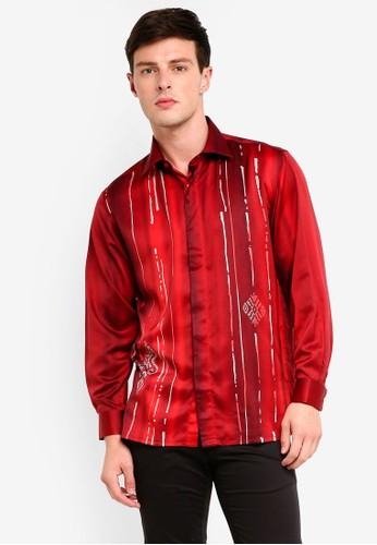 Gene Martino red Men's Batik Islamic Motif Shirt 403BBAA2F70FD3GS_1
