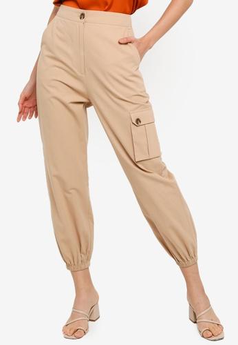 ZALORA BASICS orange Casual Cargo Pants E3D75AA293F3E9GS_1