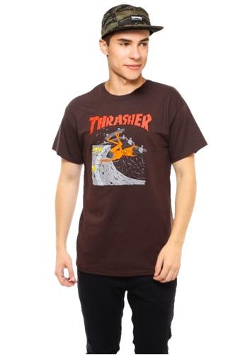 a58f8bad527d Thrasher brown Thrasher Neckface Invert T-Shirt Brown E98F5AABF950F1GS_1