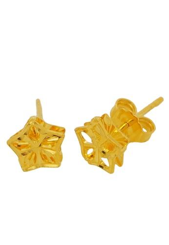 LITZ gold LITZ 916 (22K) Gold Star Earrings 94702AC3C79A49GS_1
