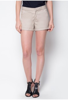 City Shorts with Gold Button Detail