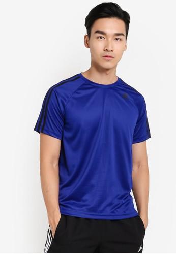 adidas blue adidas d2m tee 3s E966DAAF883C8EGS_1