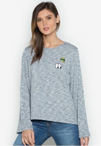 Verve Street grey Jasmine Long Sleeves Top VE915AA0JP1ZPH_1