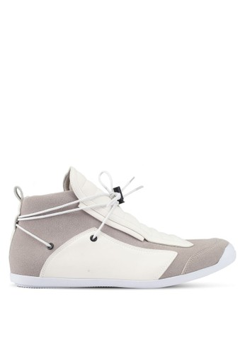 ZALORA multi and beige High Top Sneakers with Extended Laces 9E0D0SH439079DGS_1