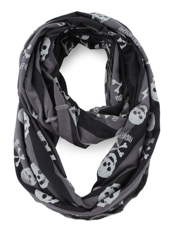eugeneffectes black and grey Skull stripe Grey EU055AA62ZFPID_1