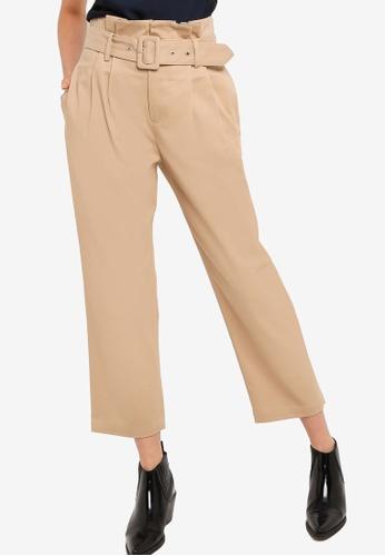 SCOTCH & SODA brown Twill Paperbag Pants 10DA5AAC6E5E7AGS_1