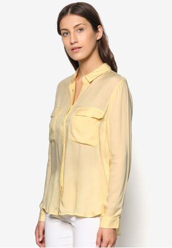 雙口mango 門市袋長袖襯衫, 服飾, 服飾