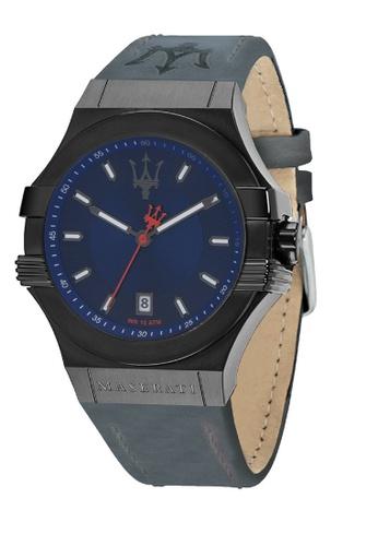 Maserati blue Potenza Quartz Watch R8851108021 Blue Leather Strap 5D01EAC160F785GS_1