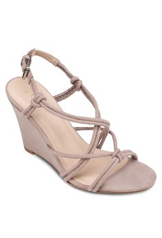 Tubular Wedge Sandals