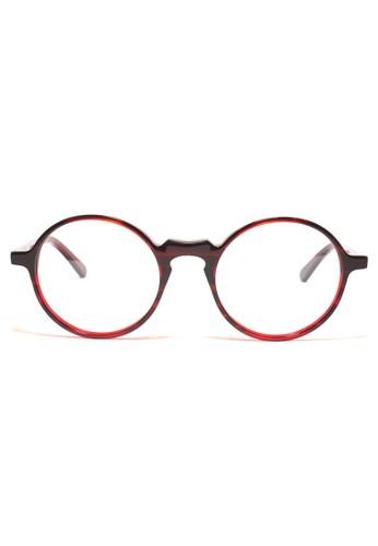 酒紅色鏡框esprit outlet 家樂福│復古圓框眼鏡│K1051-C4, 飾品配件, 眼鏡