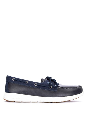 Sperry navy Sojourn 2-Eye Leather Sneakers 8CD7ASH4A679DEGS_1