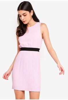 dc1d43472 ZALORA purple Pleated Skirt Sleeveless Dress B5533AA5E062C8GS_1