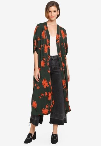 ZALORA multi Orient Floral Kimono Cardigan 90187AA0A36E08GS_1