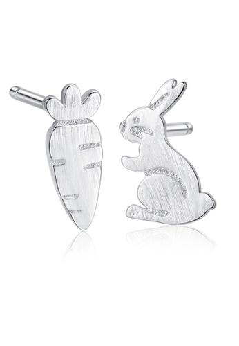 SUNRAIS silver High quality Silver S925 silver bunny earrings 53159AC45F2D0FGS_1