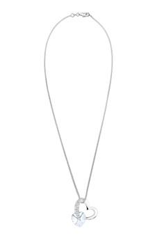 Elli Germany 施華洛世奇 925 純銀 心形白水晶項鍊