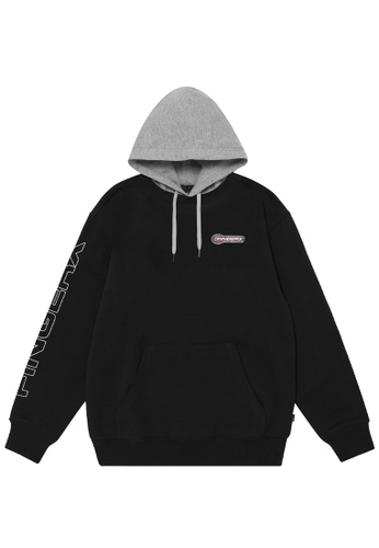 Fingercroxx black Logo badge hoodie BAE8DAA0DE9EFAGS_1