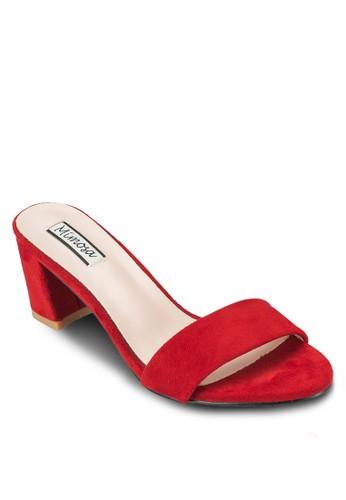 一字帶中高跟涼鞋, 女鞋, 中esprit taiwan跟